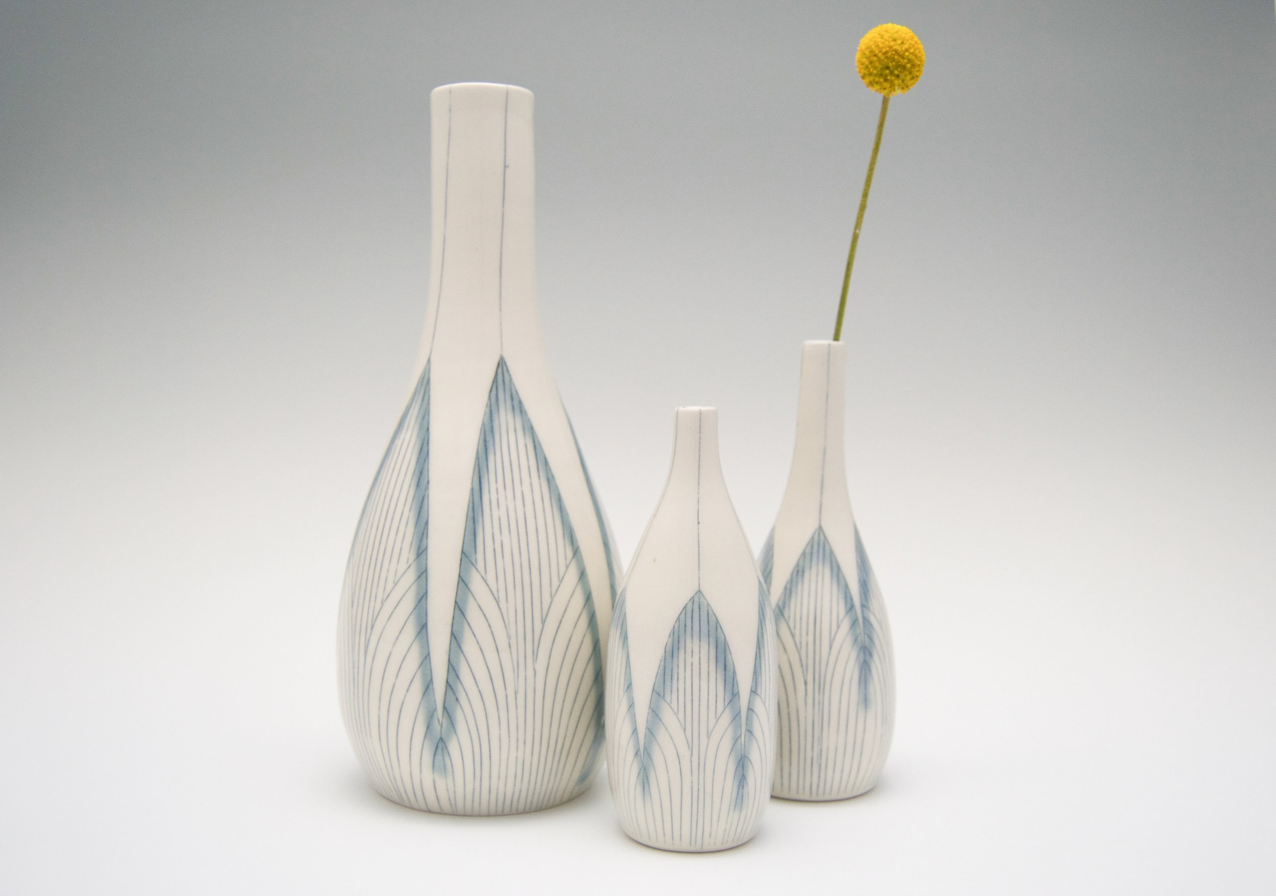 Architectural Cluster Vases