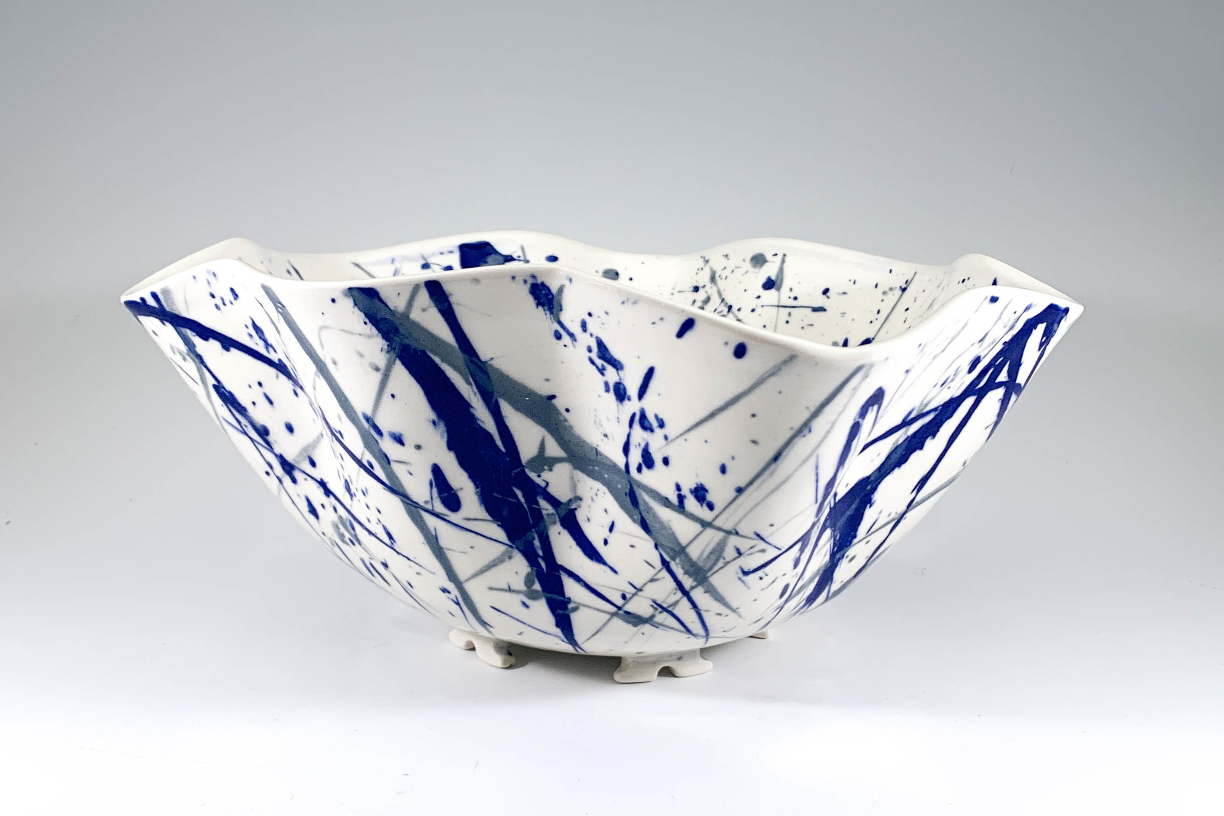 Frenzied Wave Serving Bowl