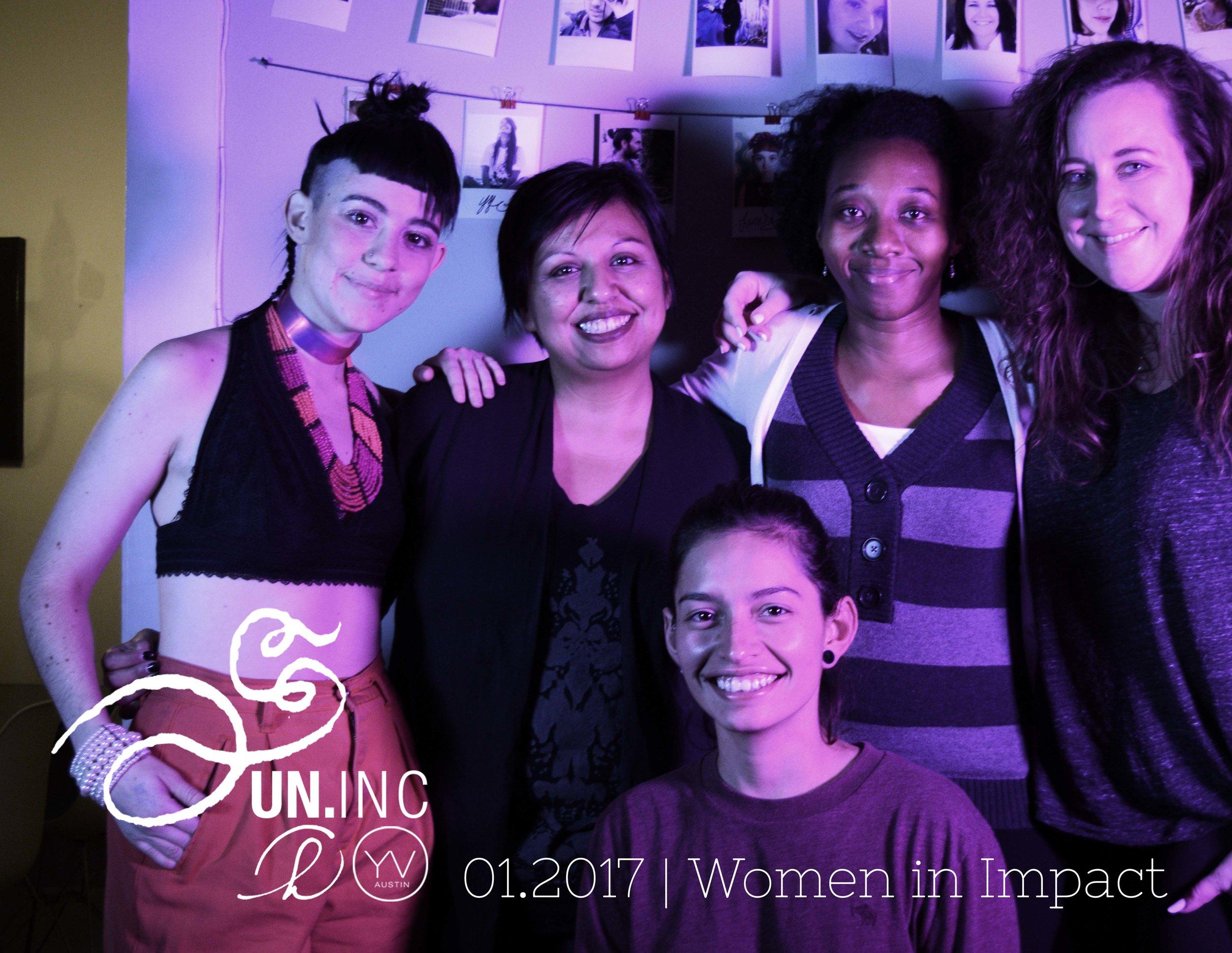 Lauren Bruno, Leti Bueno, Yviee Quintanilla, Tyeschea West, Liz Deering