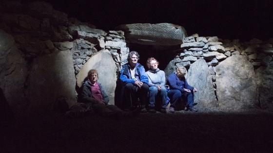 Inside the Cailleachs Cairn