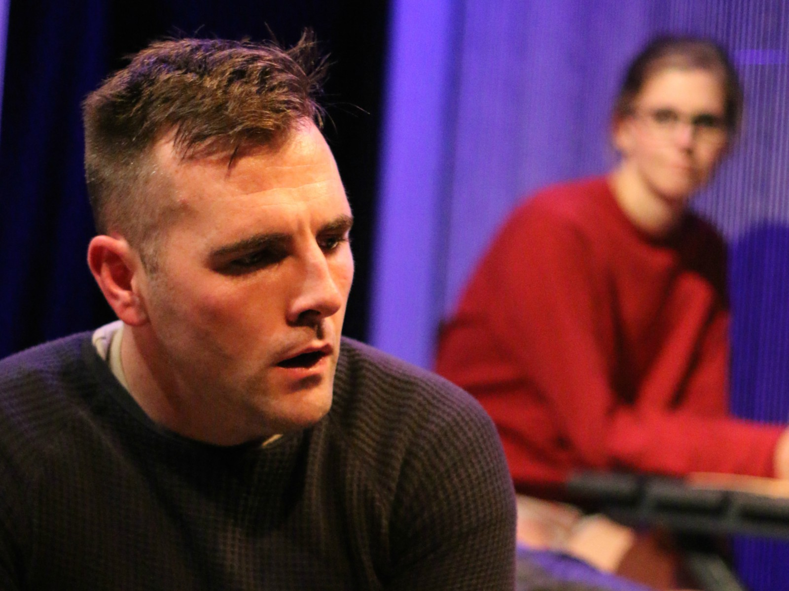 Mickey O'Sullivan and Laura Matthews in  Dying City . Photo by Cody Jolly.