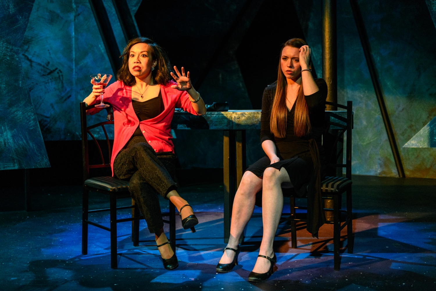 Lynnette Li and Cydney Moody in DEAD MAN'S CELL PHONE. Photo by Paul Goyette.
