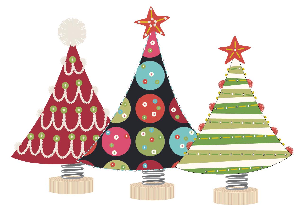 Festive Holiday Trees Artwork