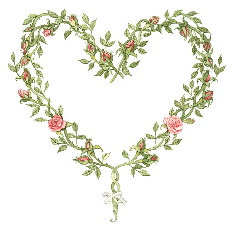 Rose Heart Artwork
