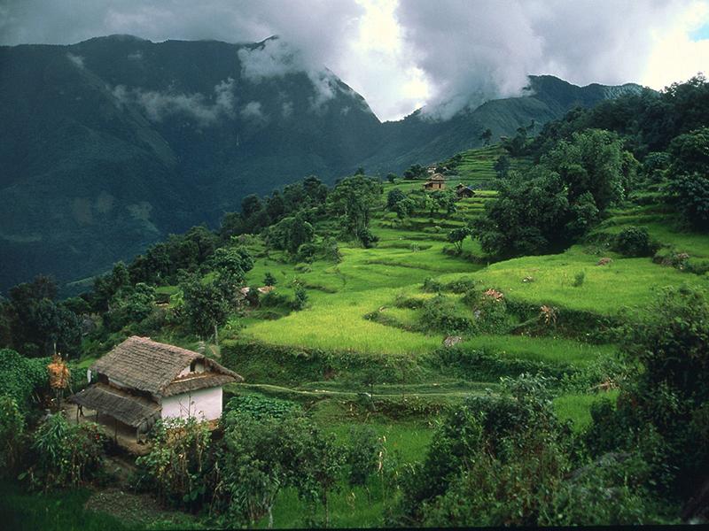 The mountains surrounding Zunyi, China