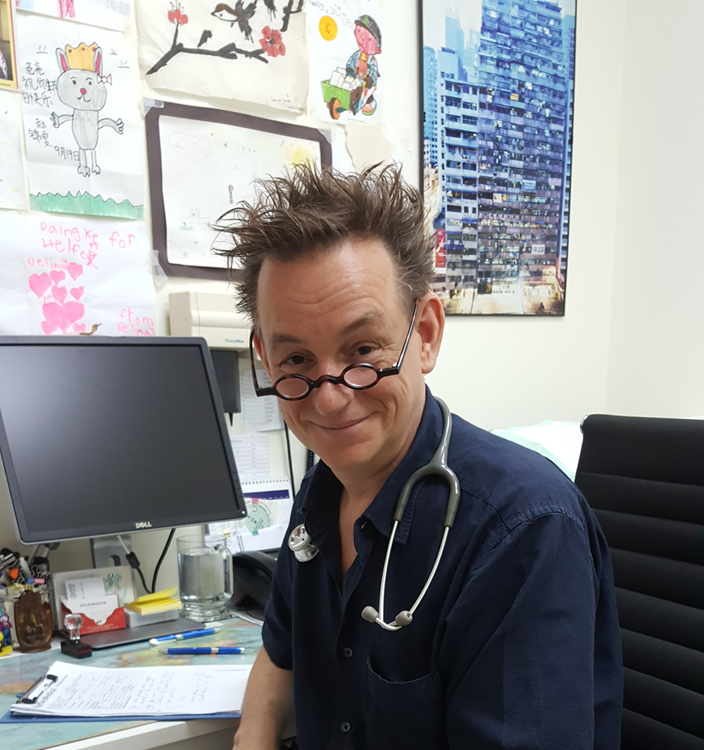 Dr. Jurgen at Nanjing's International SOS medical facility.