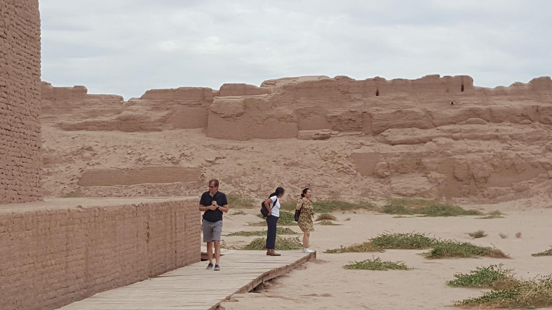 The ancient ruins at Turpan.