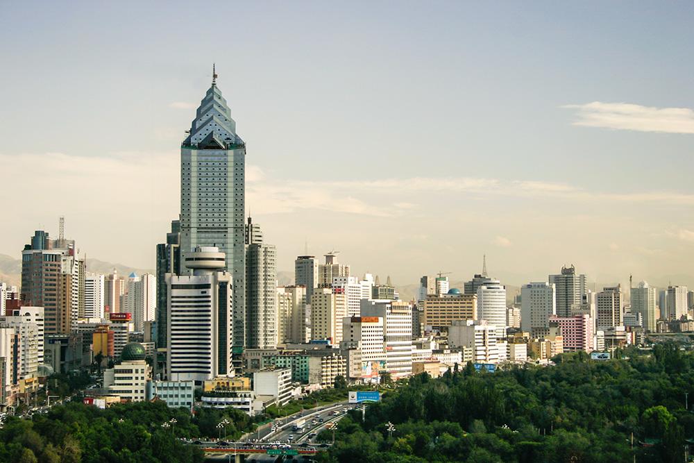The city of Urumqi.