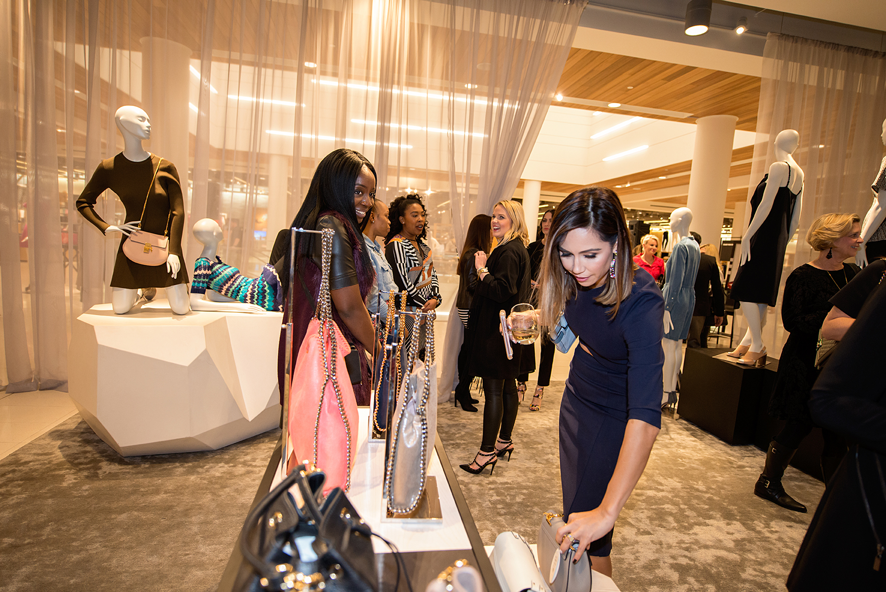 Shopping at private sale at Nordstrom The Woodlands