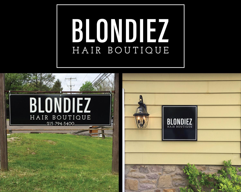 Blondiez Hair Boutique Branding