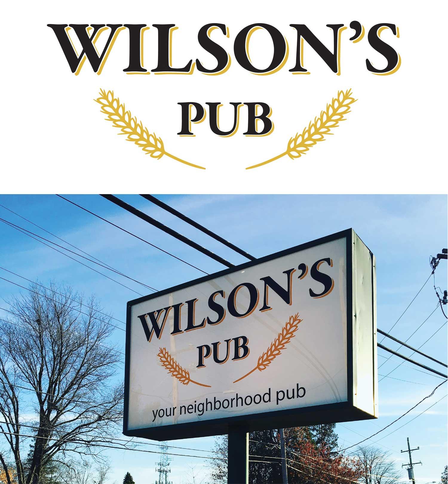 Wilson's Pub Branding