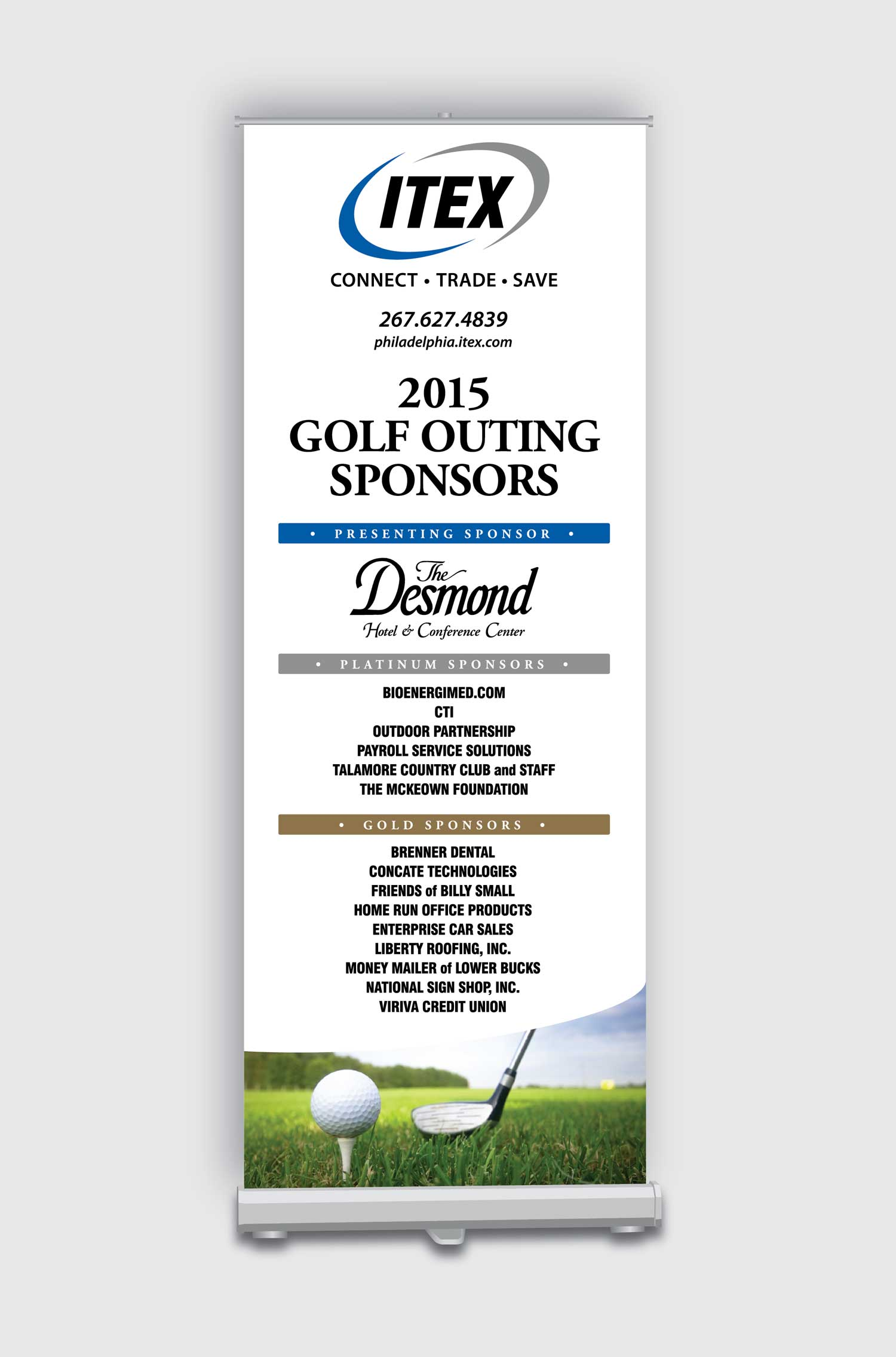 Golf Outing Pop Up Banner