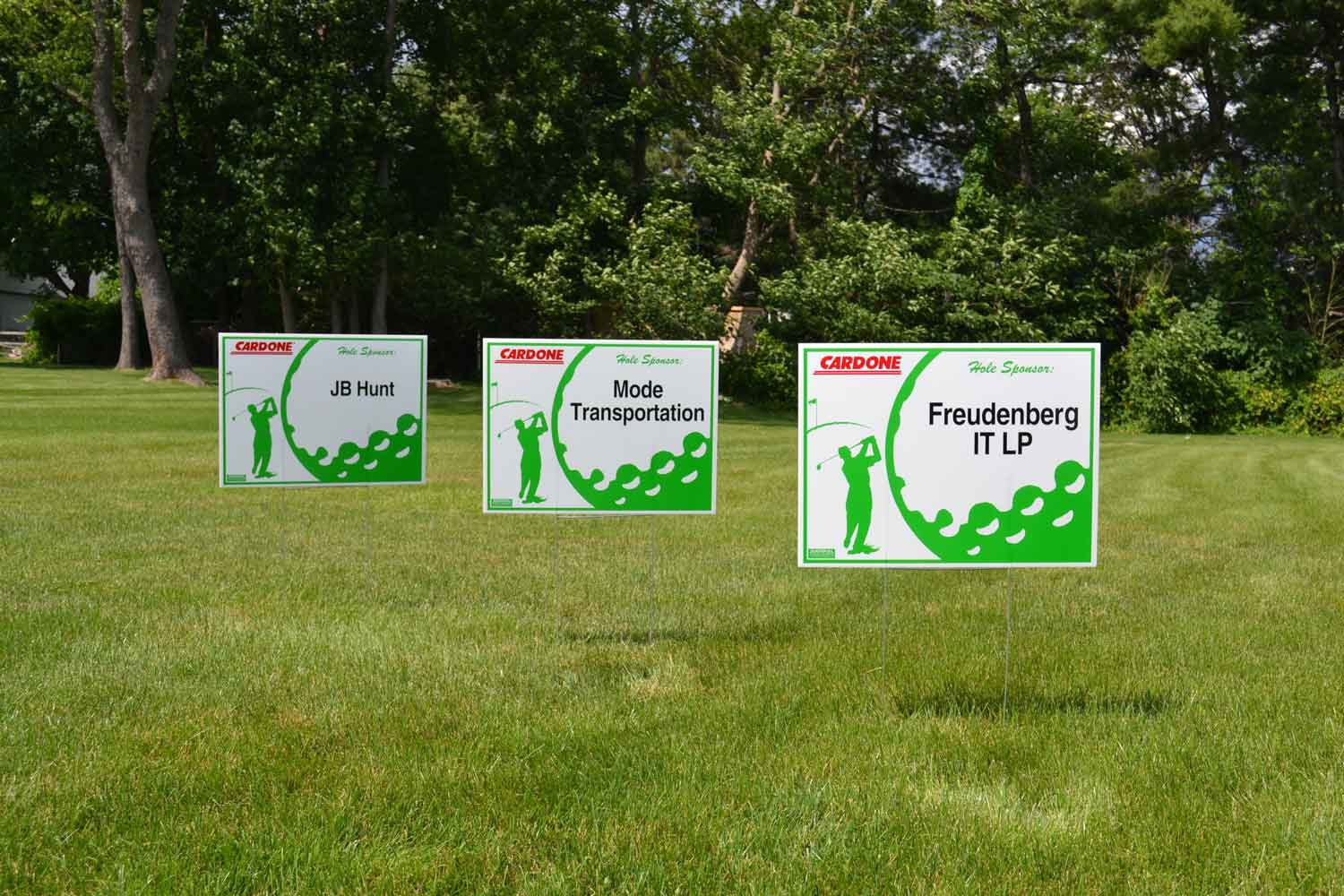Golf Outing Sponsorship Lawn Signs