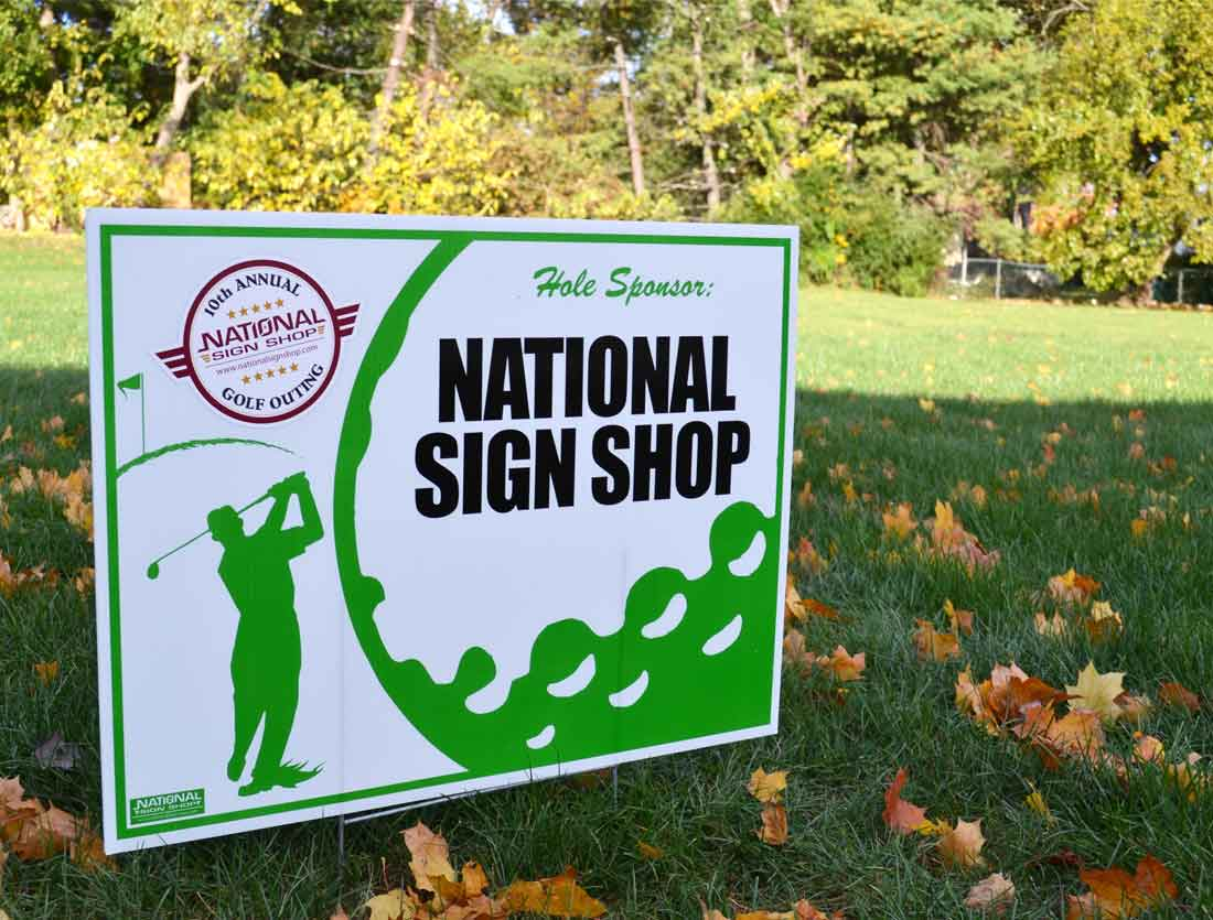 Outdoor Lawn Sign