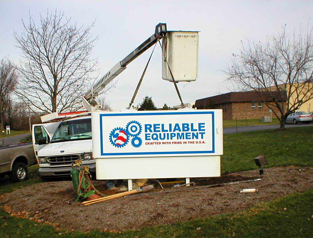 Outdoor Sign Installation