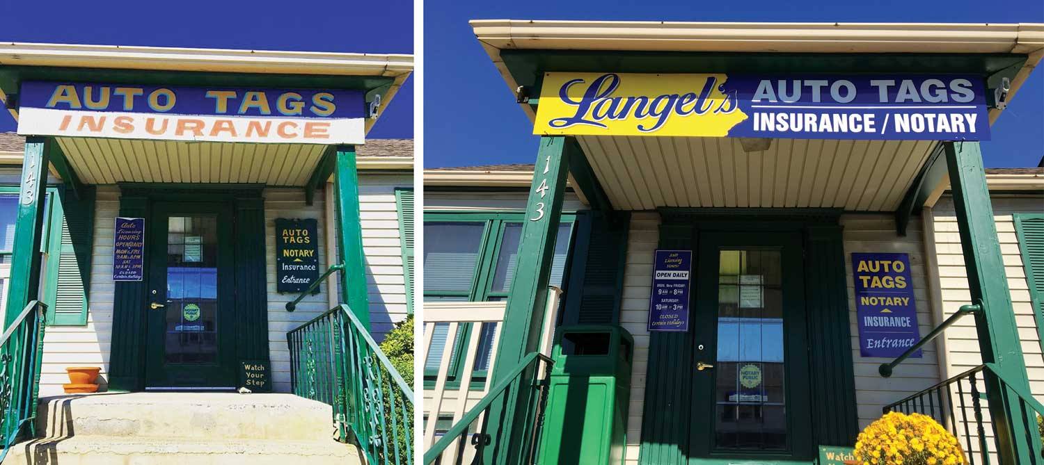 Before and After Outdoor Signs