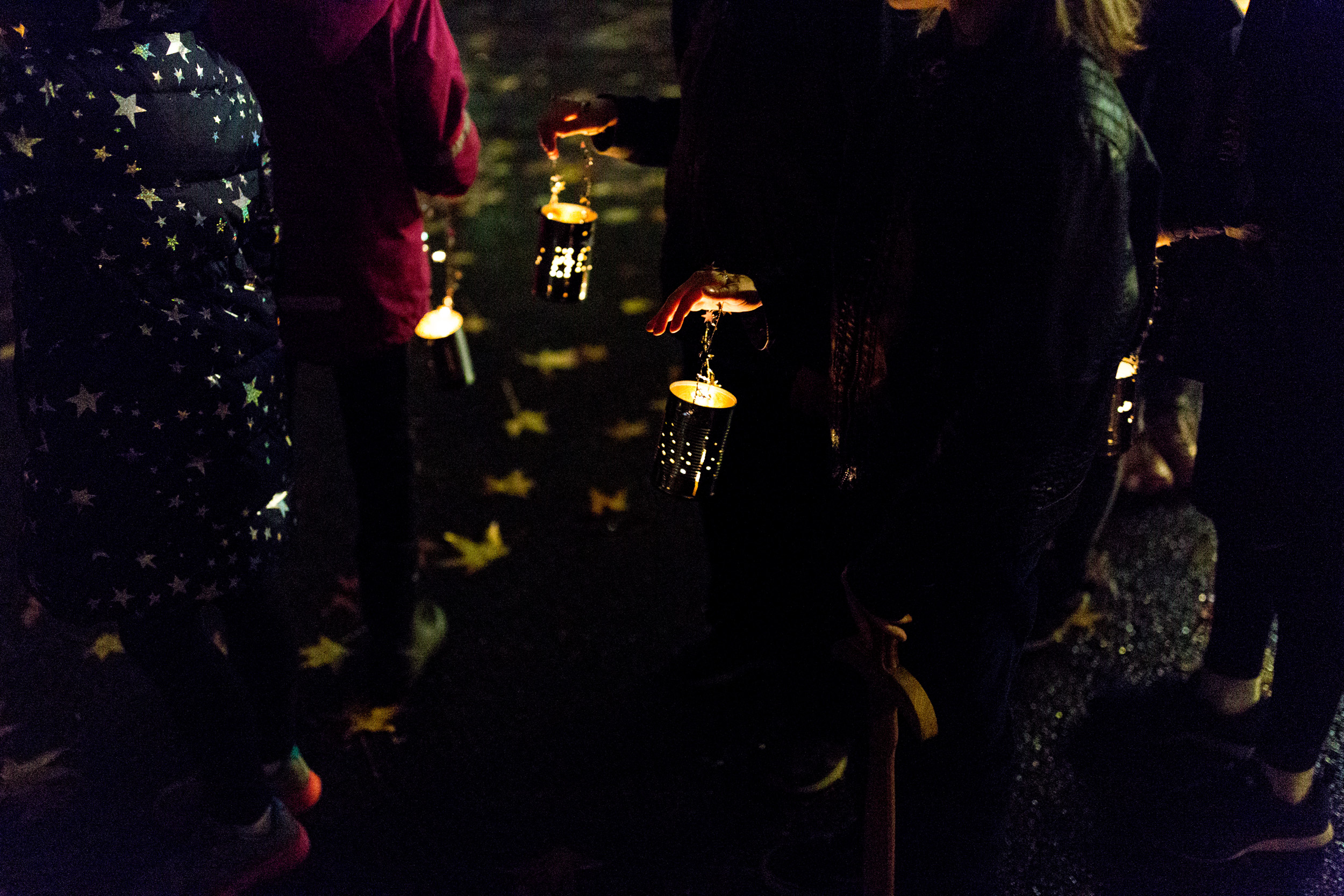 hand hammered tin lanterns