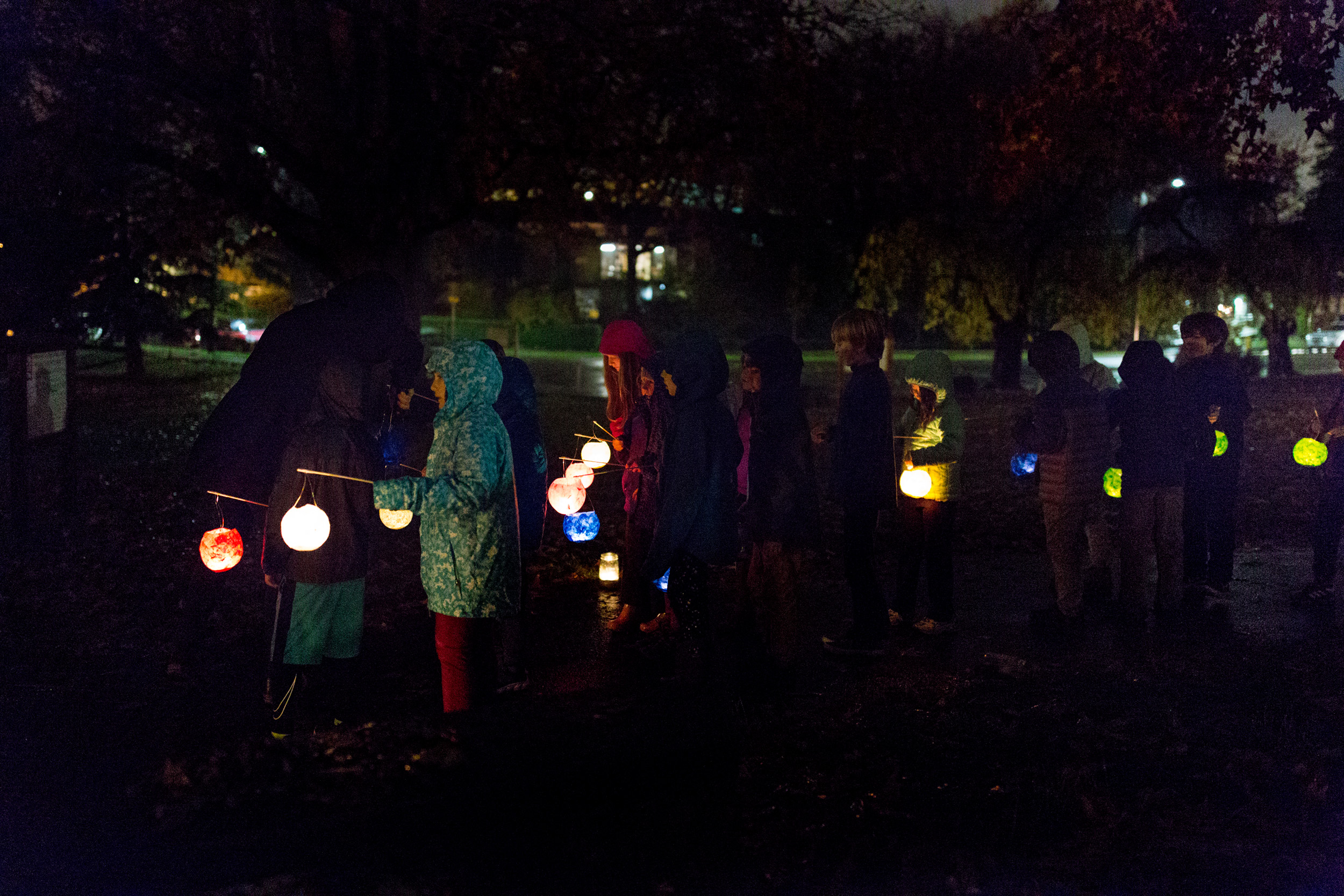 teacher relighting a extinguished lantern