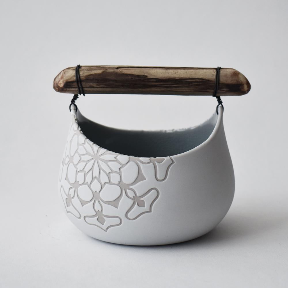 OOAK ceramic basket Eri Sugimoto