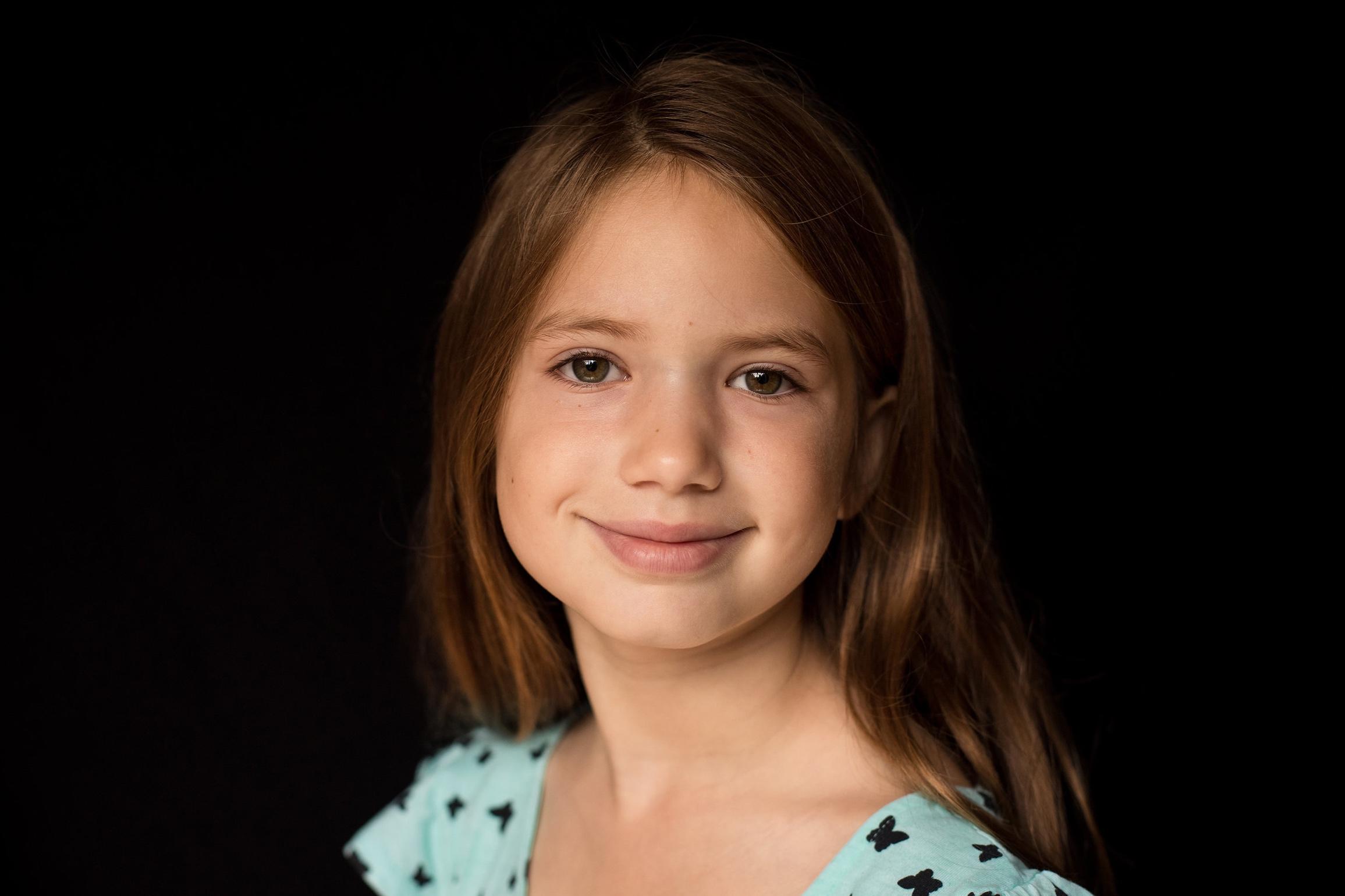 grade school portrait girl