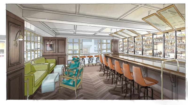 Lobby level lounge
