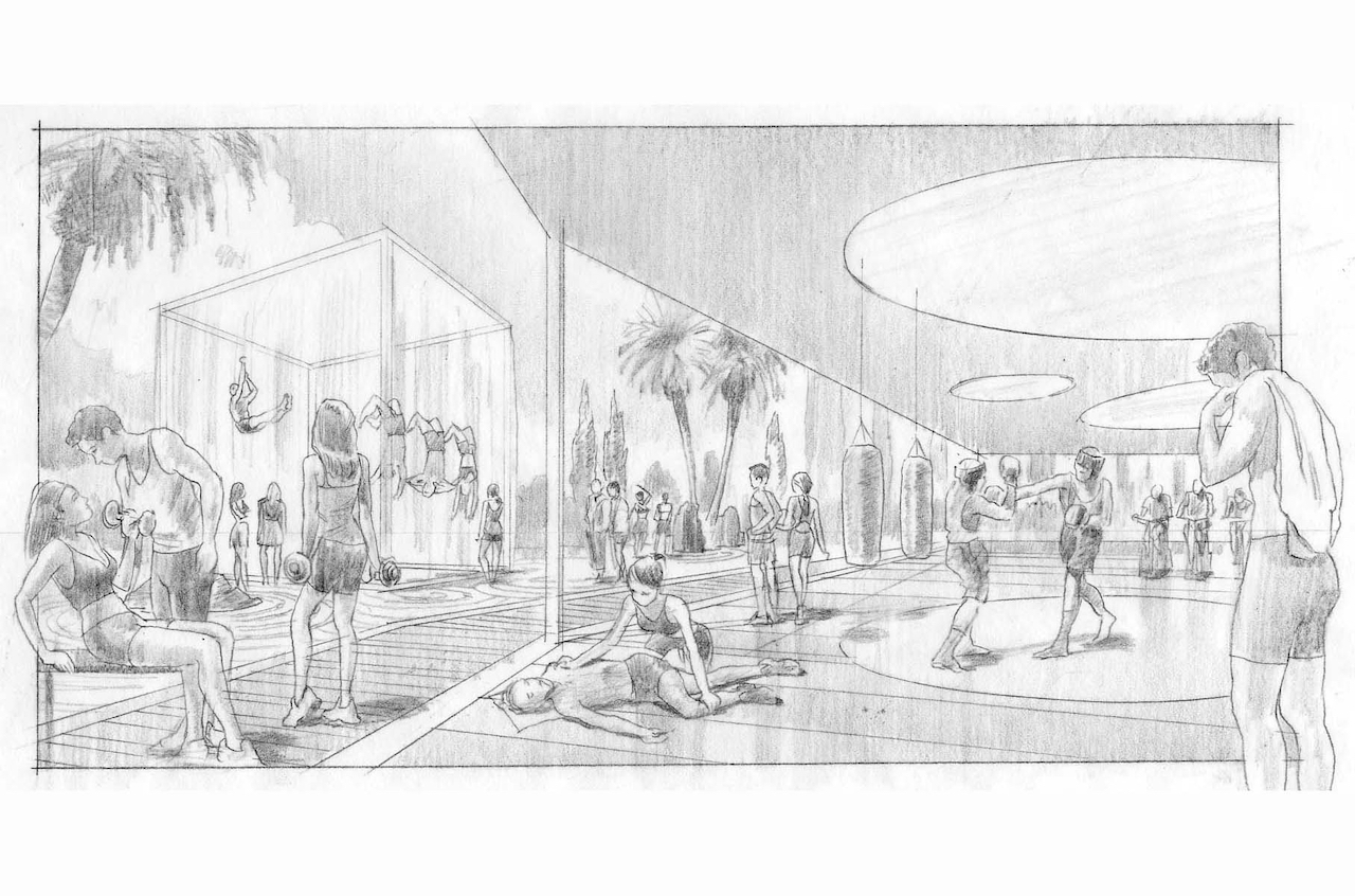 Concept sketch for an Equinox resort concept
