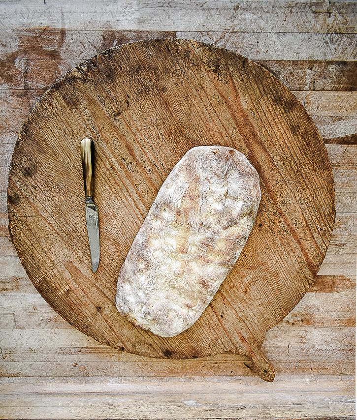 Vintage Round Bread Board