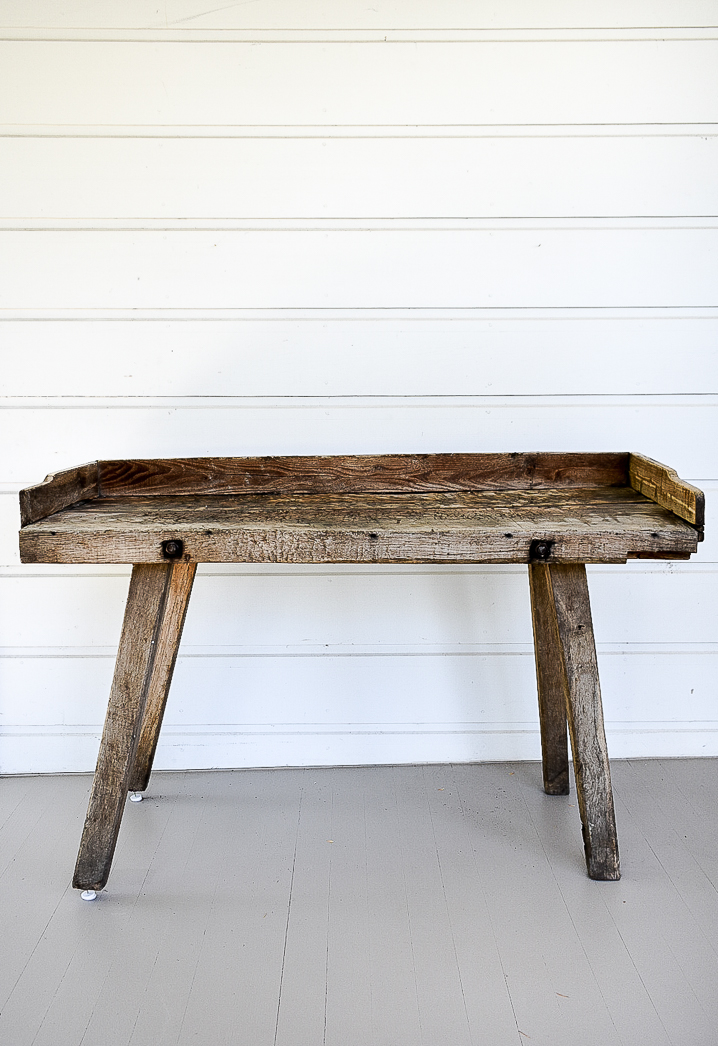Rustic Wood Console
