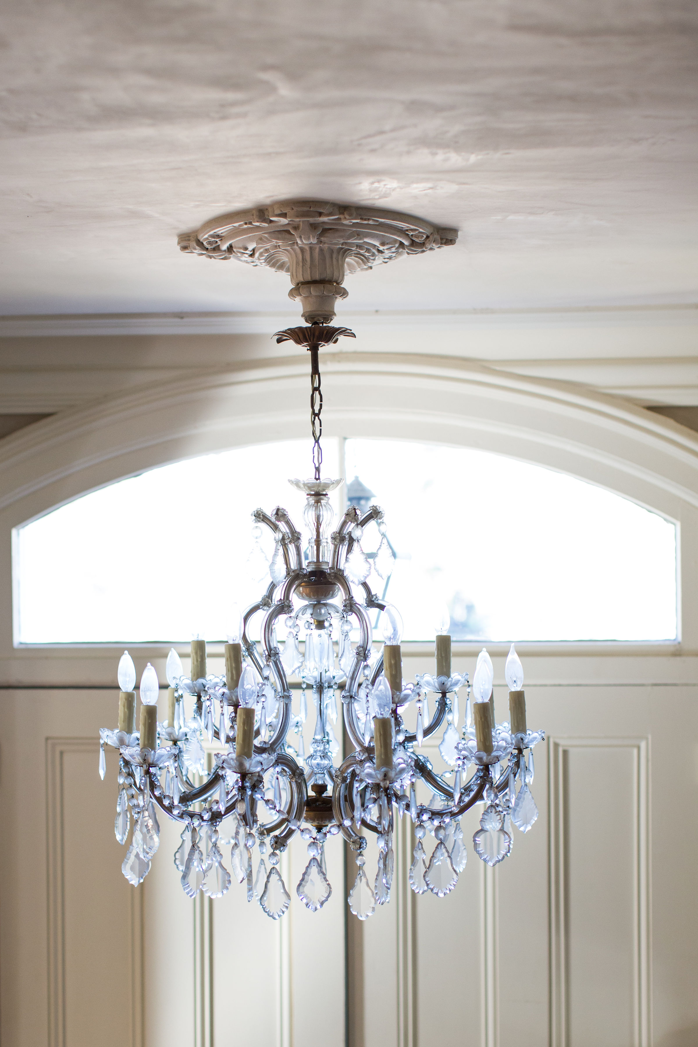 French Antique French vintage chandelier