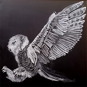 Snowy Owl Chalkboard Drawing
