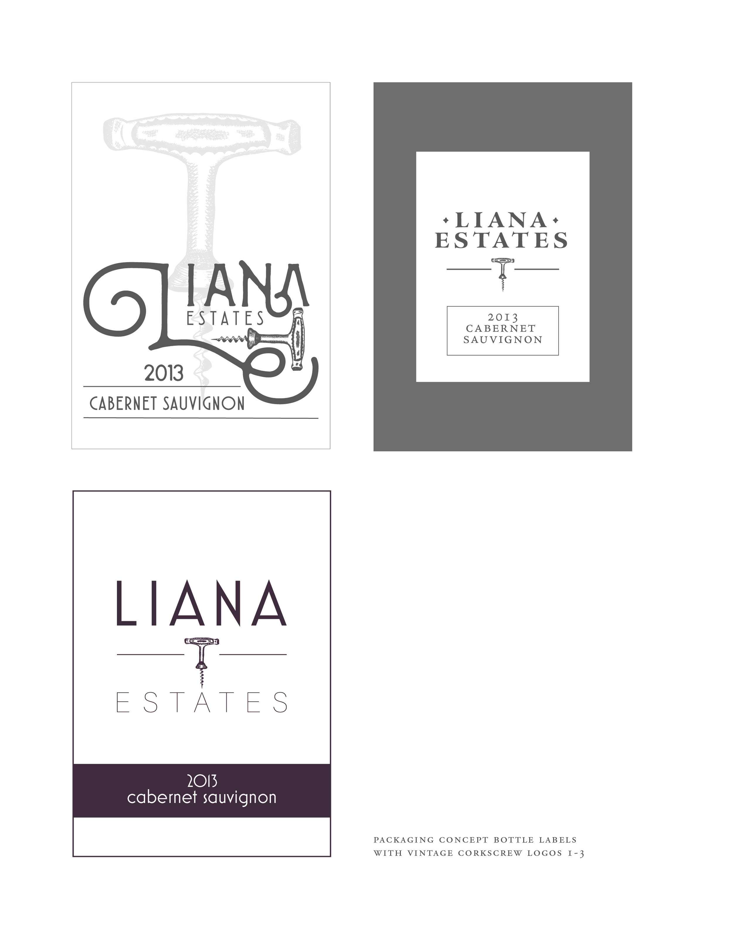 Label Development   Showing the client examples of how the logo will look in layout further aids in narrowing down concepts and design directions. ˙