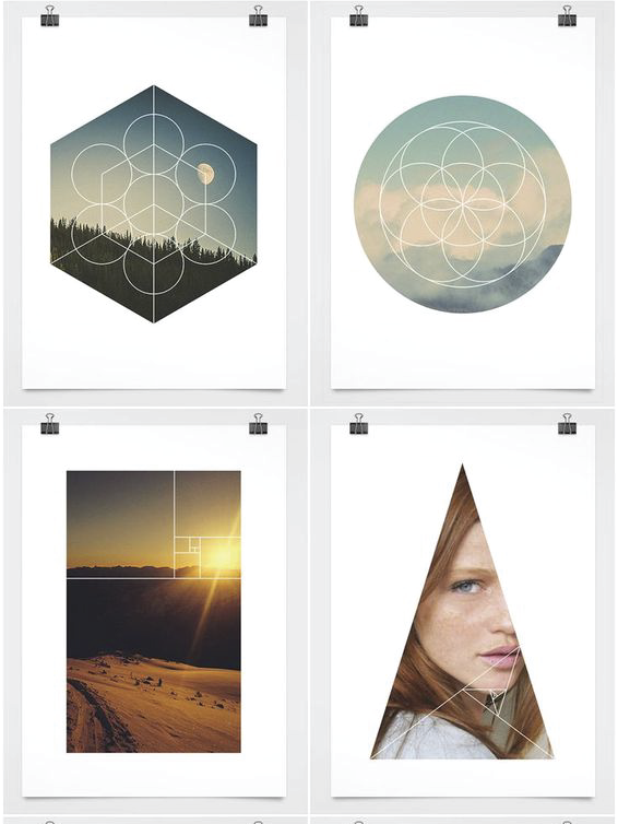 SACRED GEOMETRY IN ACTION   Balance in and of nature is a major component of Hazel + Beck. Ainslie is drawn to the combination of textural imagery with geometric patterns. This modern geometric masks and shapes collection we found  pinned on Pinterest  was the jumping off point for this concept.