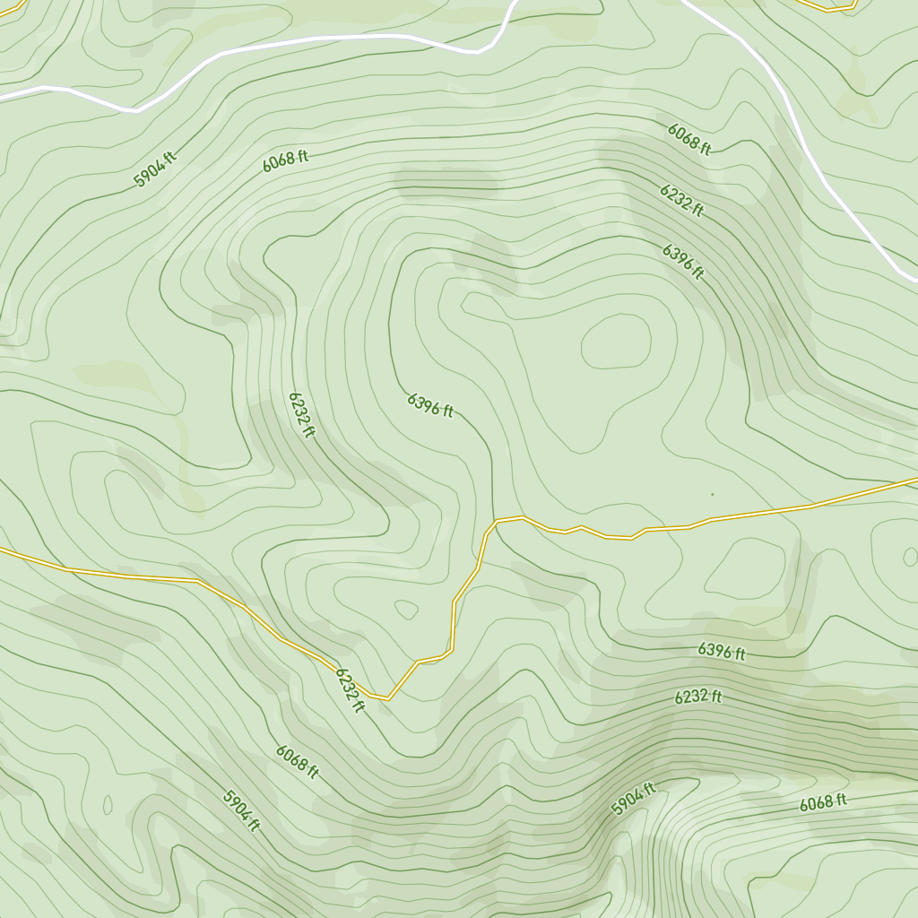TOPO MAP   One of the cutaways of the topo map of the El Dorado National Forest used in concept development.