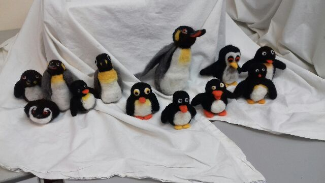 needle felt penguin group.jpg