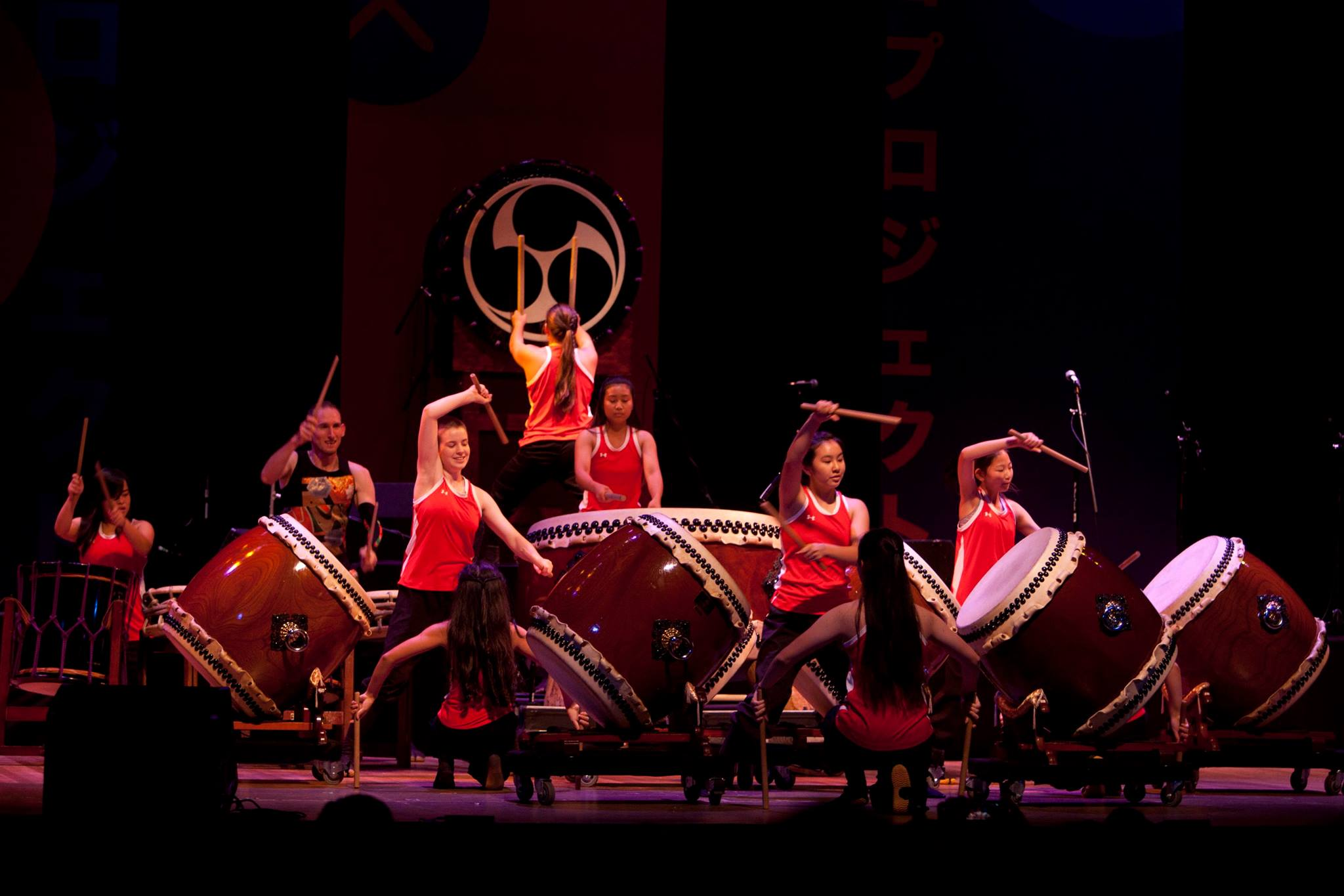 Kitsune Taiko perfoming Raion