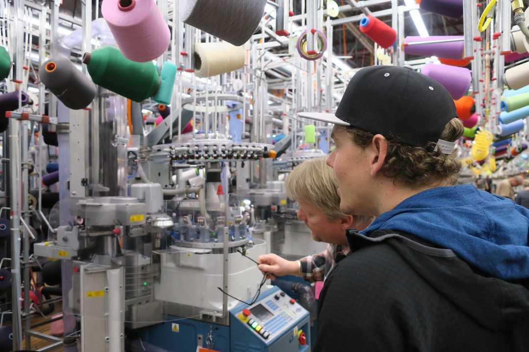Each of Darn Tough's knitting machines (nearly 200 of 'em total) creates 1,141 stitches per square inch. Talk about precision. Source: http://freeskier.com/stories/we-took-a-tour-through-darn-tough-vermonts-sock-mill-and-it-was-incredible