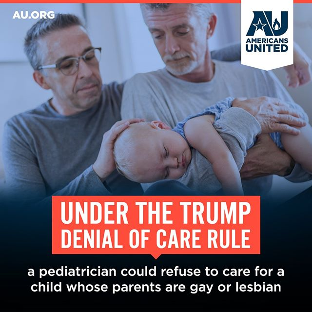 We're suing the Trump administration to stop the #DenialofCare Rule. Why? Because the rule is so broad that any health care worker – doctors, surgeons, nurses, receptionists, orderlies – could deny care to patients, based on personal religious objections. #PutPatientsFirst