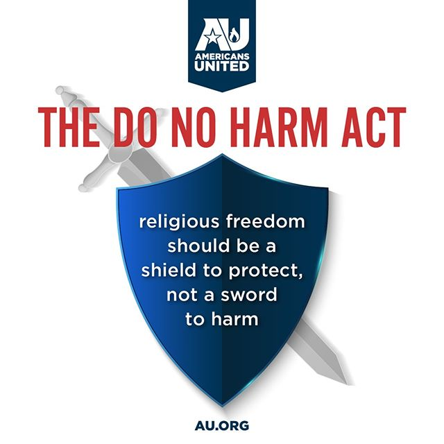 On Thursday, AU's VP of Public Policy @maggiefgarrett is moderating a panel on Capitol Hill with @RepJoeKennedy @BobbyScott @ACLU @HRC & @TheTaskForce to discuss the #DoNoHarmAct.