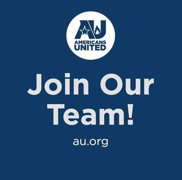 Are you driven, confident & creative with a passion for church-state separation? Take a look at our job board! We're hiring for #development #fundraising #communications #internships #DCjobs #idealist www.au.org/about/employment