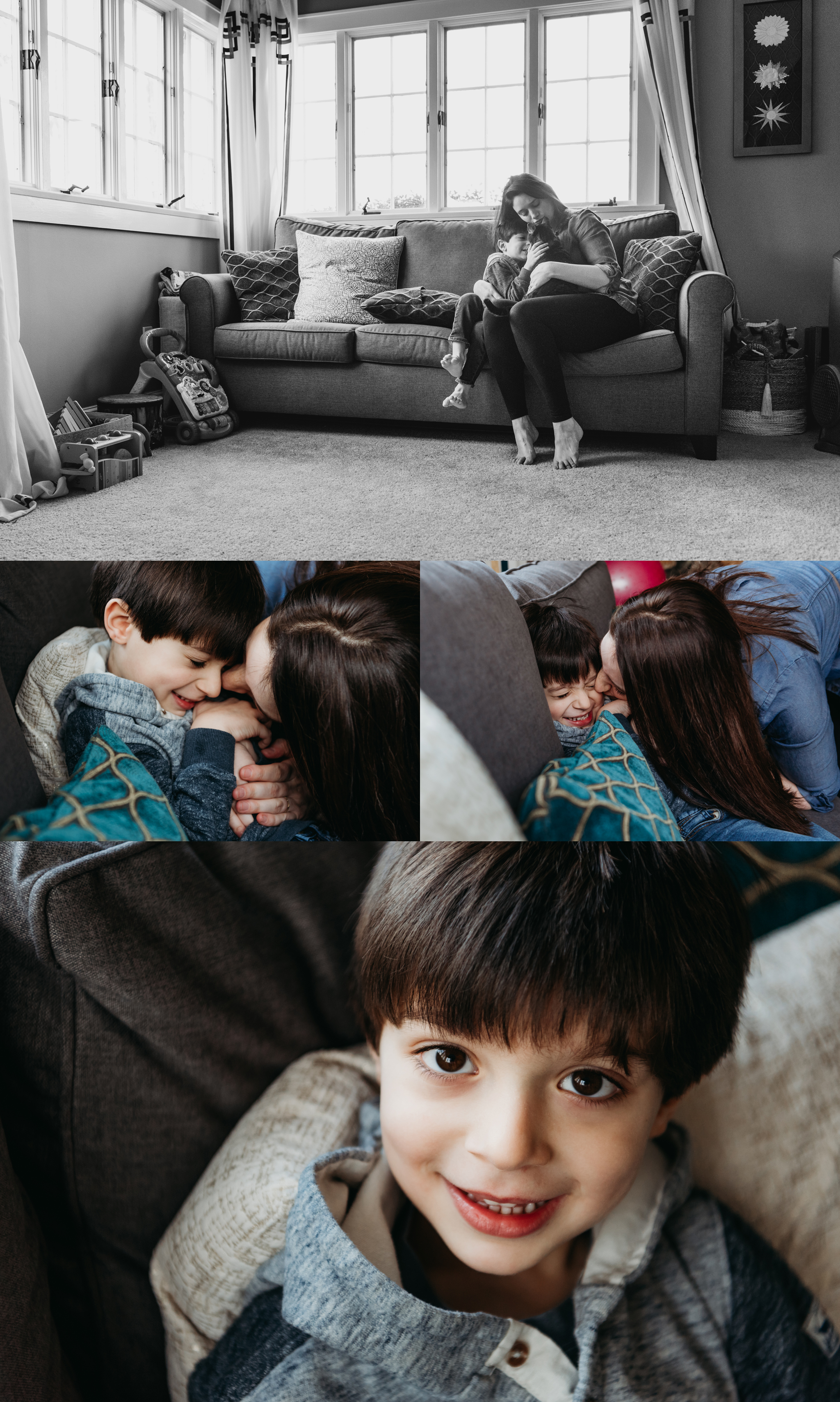 In-Home Family Story Photo Session Westchester NY