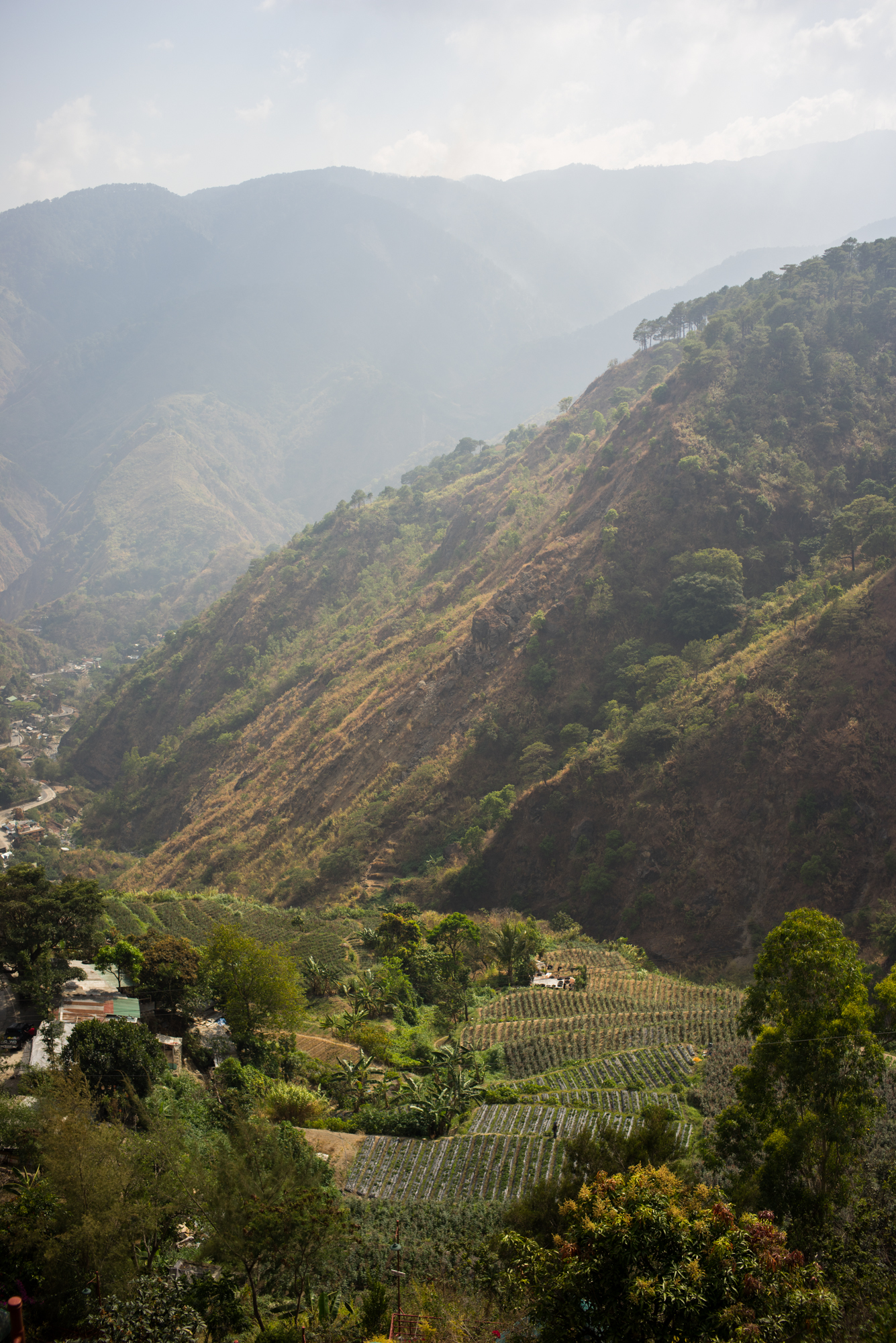Valley and mountains near Baguio, Phillipines