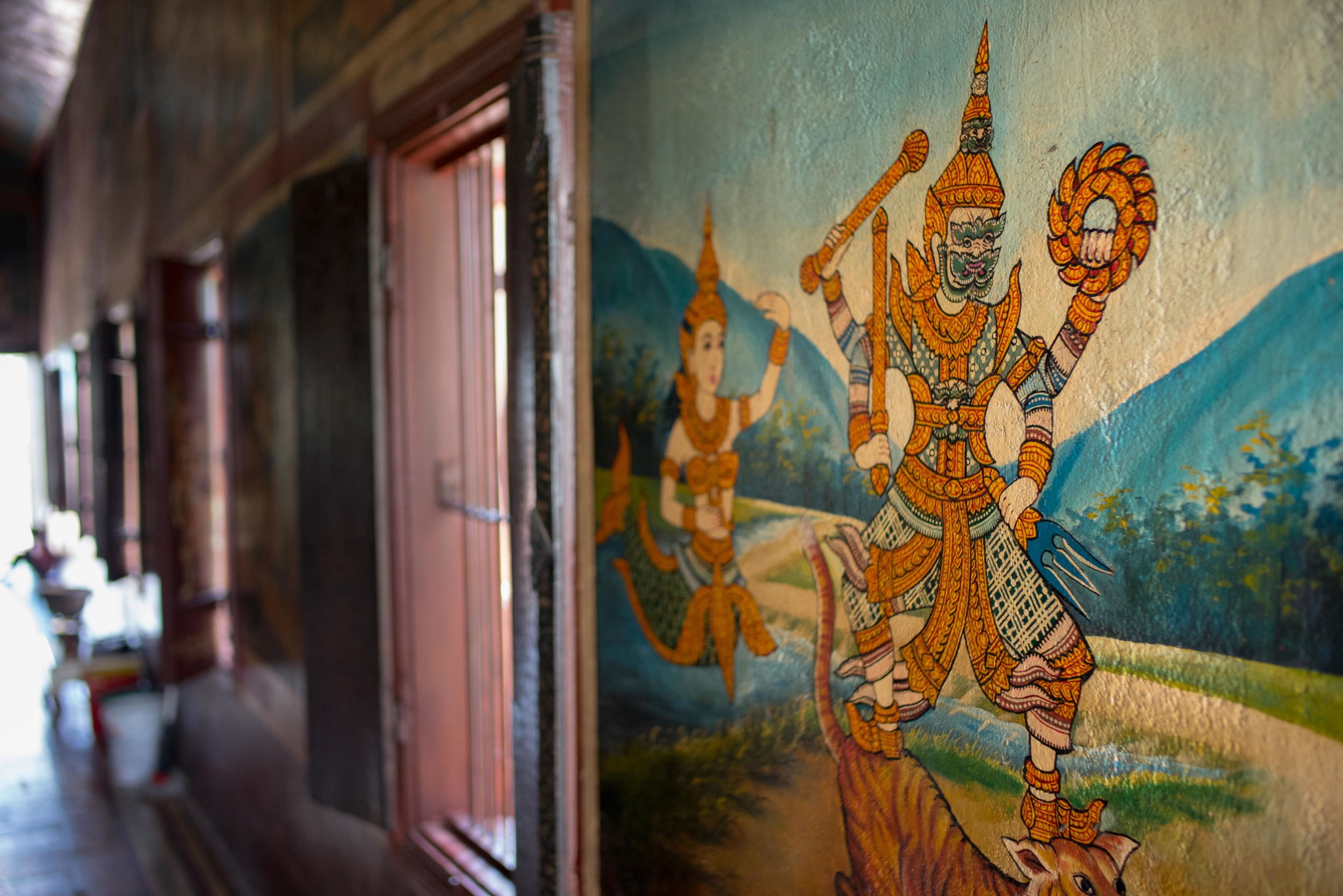Mural at a buddhist temple