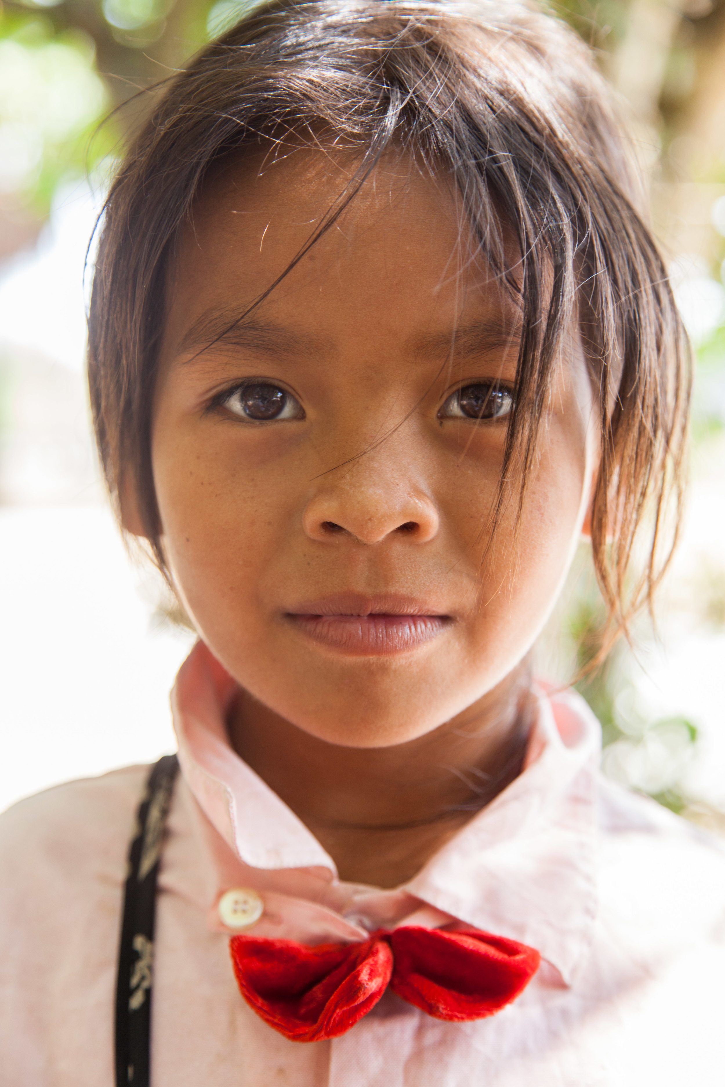 A young cambodian girl