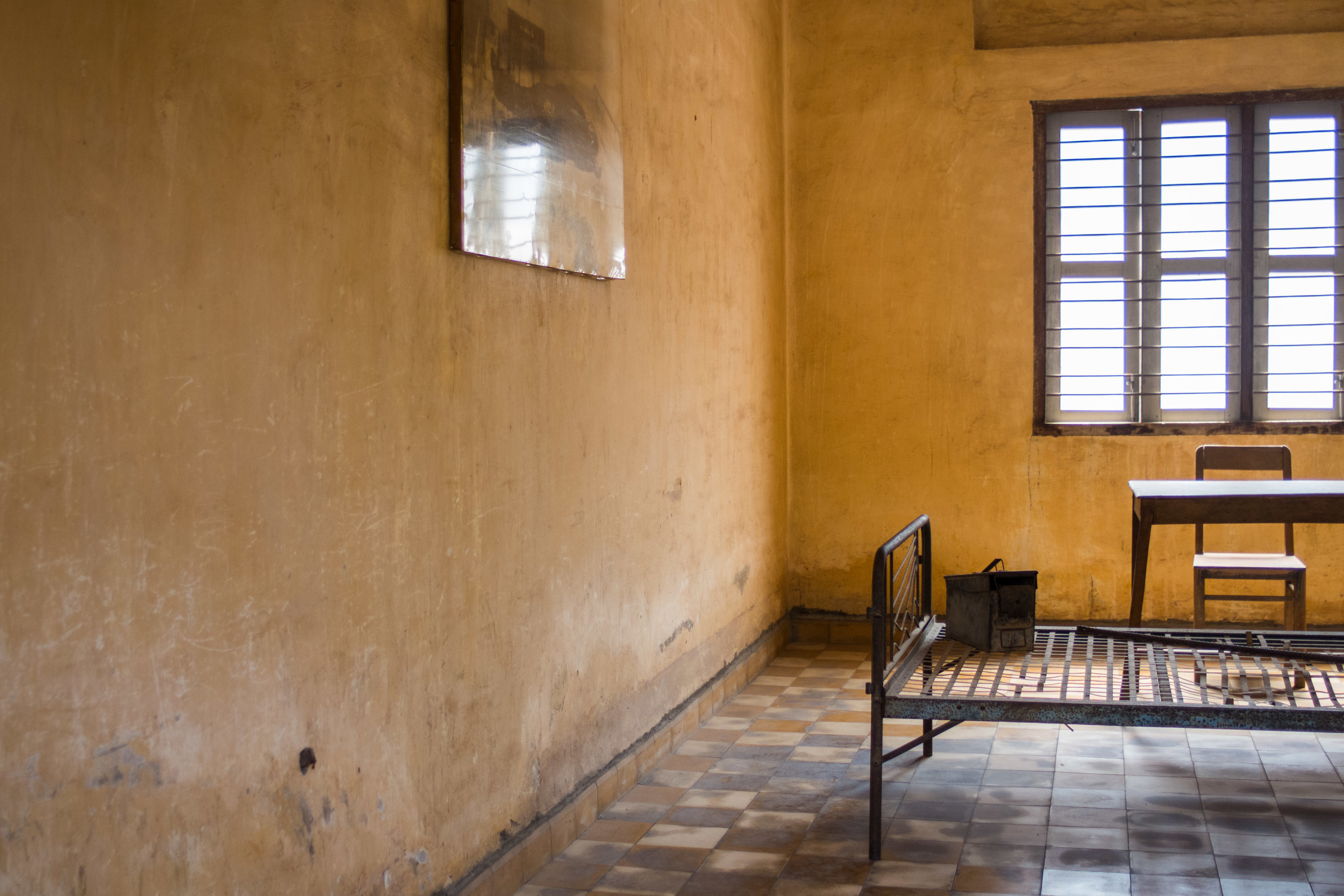 A Khmer Rouge torture room in Phnom Penh, Cambodia