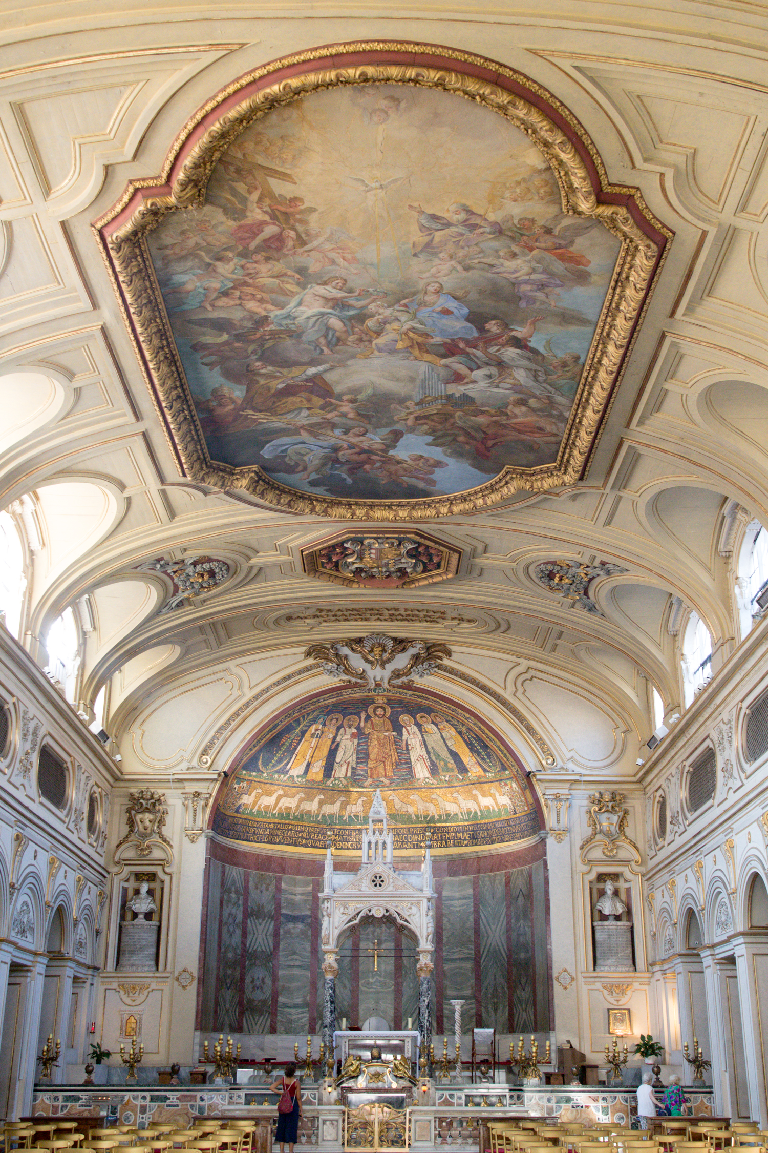 Inside Santa Cecilia in Trastevere