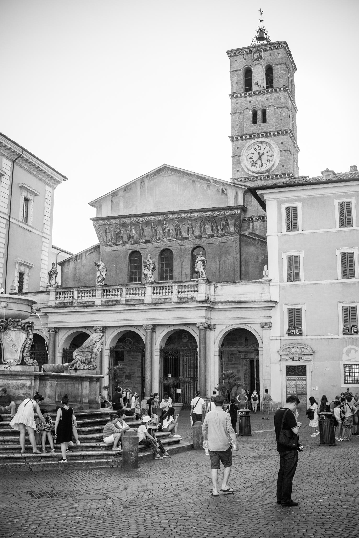 The Basilica of Santa Maria in Trastevere