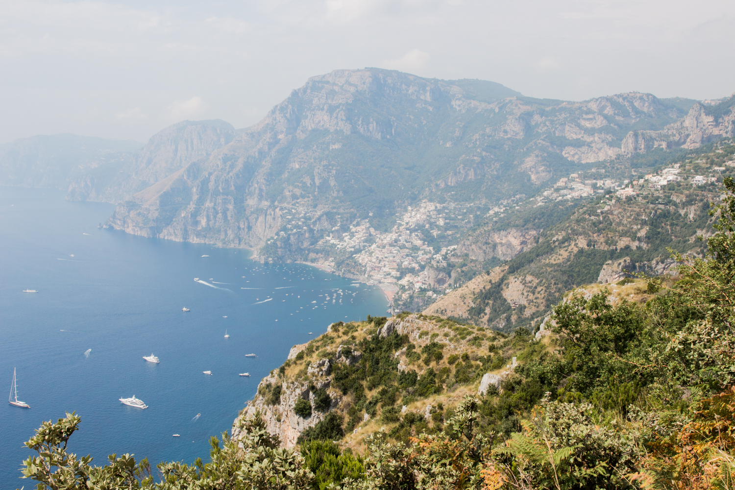That's Positano down there!