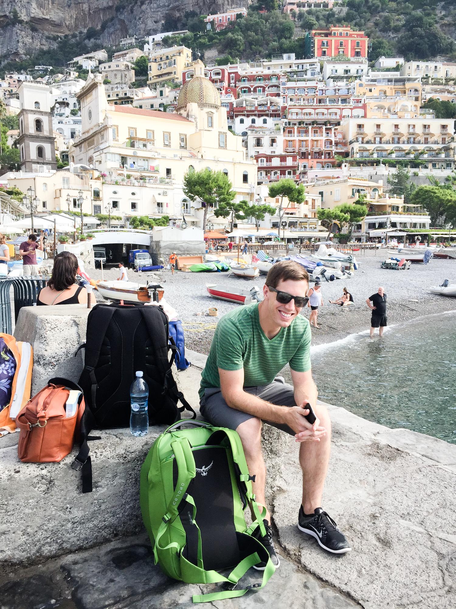 Leaving Positano