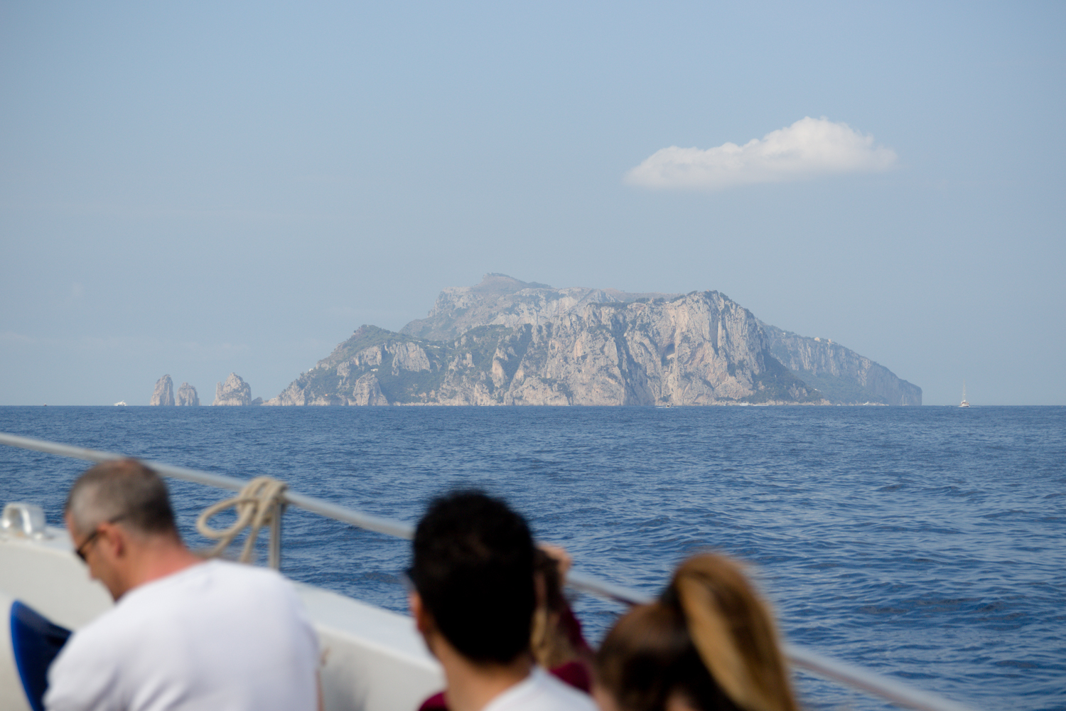 That's Capri in the distance!
