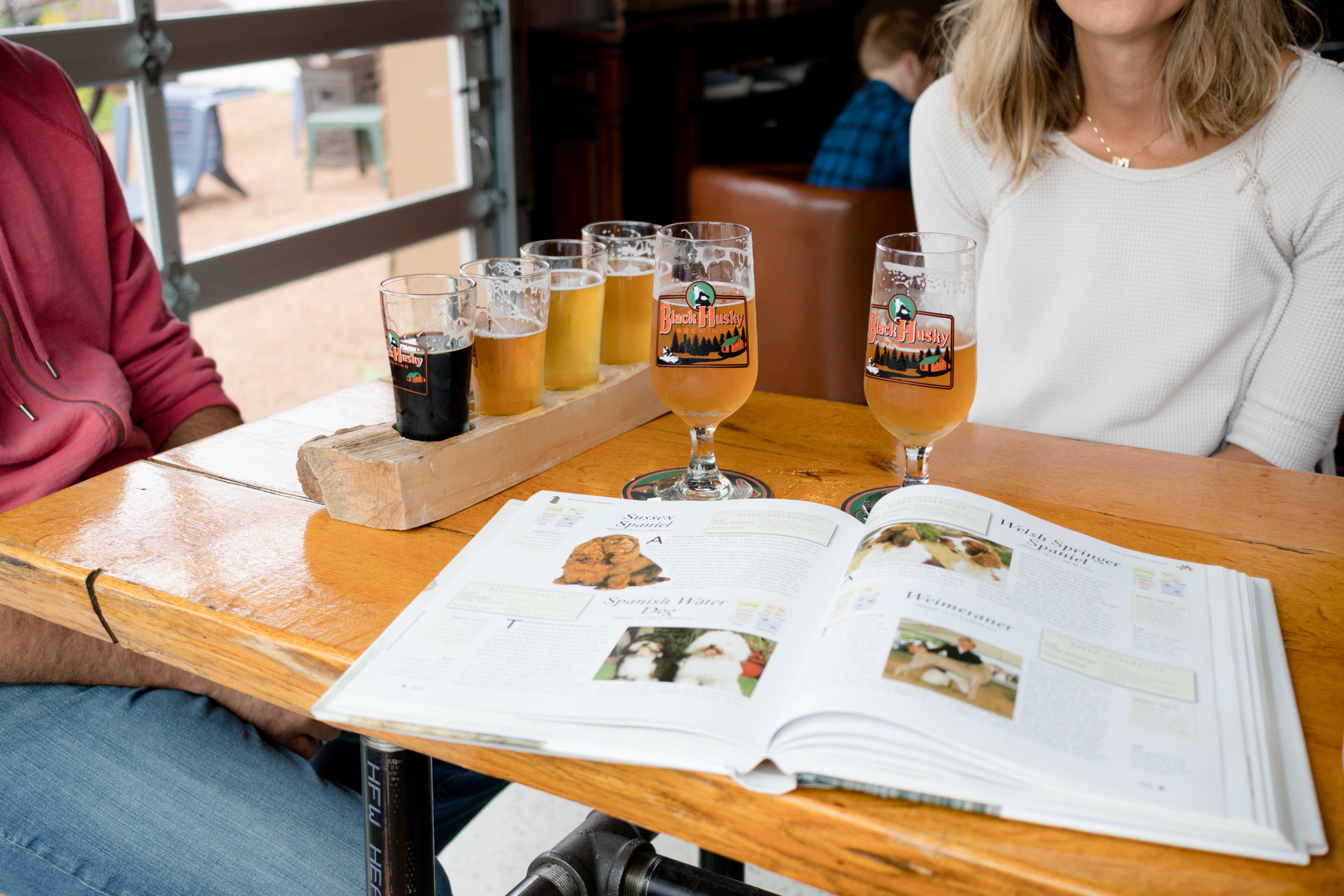 Black Husky Brewing - dog friendly with dog books = heaven